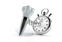What is the period required for a dental implant